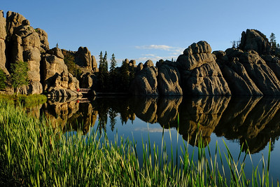 DA123,DT,Bluebird skies and morning reflections at Sylvan Lake (SD)