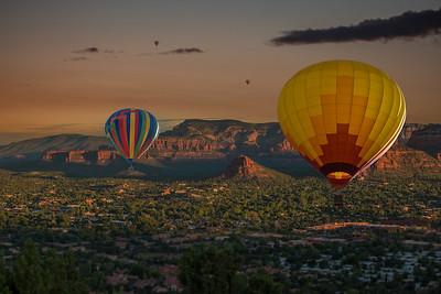 DA040,DA,Colorado Springs Balloons over Sedona with San Diego Sunrise