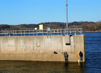 DA104,DJ,Two by Two Fishing on the Mississippi River Lock and Dam  11