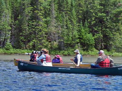 Photographers seen on the lake at the annual Algonquin Human Safari (c) 2021 Jim (the Moose) Chung