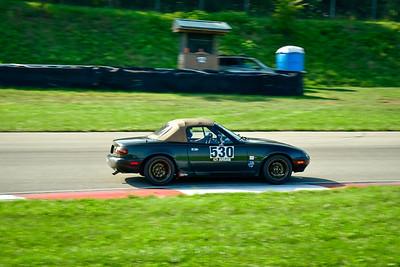 2021 SCCA Pitt Race TNIA Aug Adv Sk Green Miata