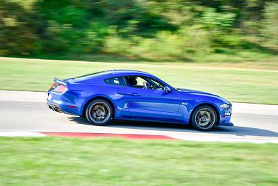 2021 SCCA Pitt Race TNIA Aug Novice Dk Blu Mustang