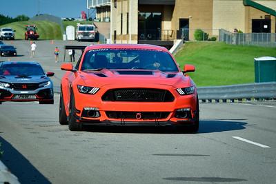 2021 SCCA TNiA Pitt Race Adv Orange Mustang Wing
