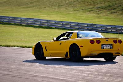 2021 SCCA TNiA Pitt Race Adv Yellow Vette