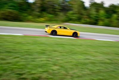 2021 SCCA Pitt Race Adv Yellow Camaro