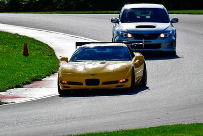 2021 SCCA Pitt Race Nov Yellow Vette Wing