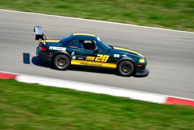 2021 SCCA Pitt Race TT Tour Green Miata 28