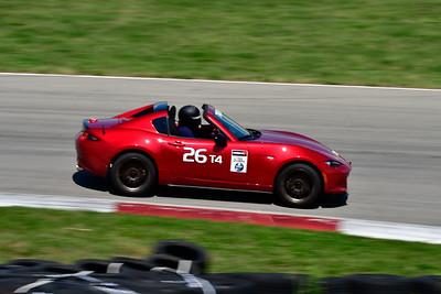 2021 SCCA Pitt Race TT Tour Red Miata 26