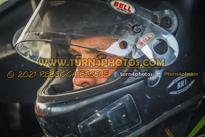 Justin Haers in car 4-10-21
