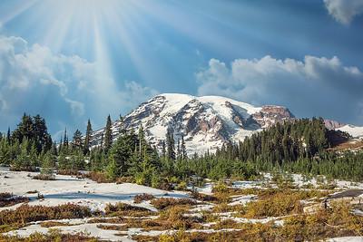 DA115,DT,Mount Rainier Washington State USA