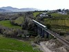 22004 crosses Quagmire Viaduct just east of the former Headford Jct. with the 1505 Tralee - Mallow. Wed 14.04.21