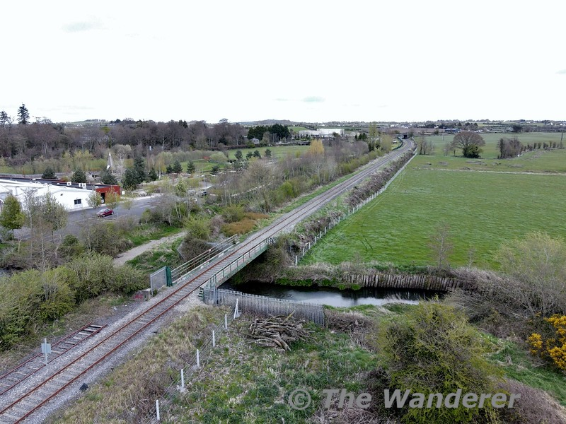 The Nenagh River passes under the railway line just north of Nenagh Station. Thurs 08.04.21