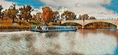 Cruising on the Yarra River