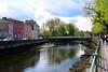 The view along North Mall towards St Vincent's Bridge in Cork City Centre. Sat 01.05.21
