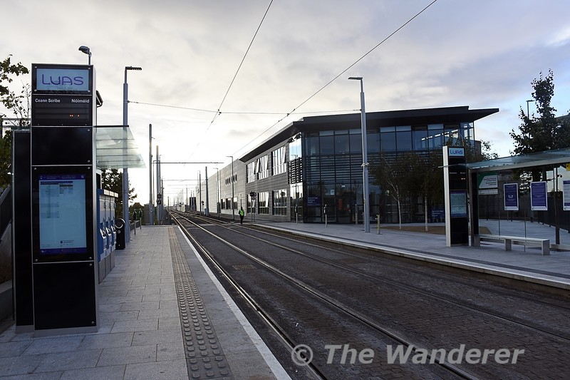 LUAS stop at Broombridge. Due to engineering works there was no service between here and Parnell. Sun 26.09.21
