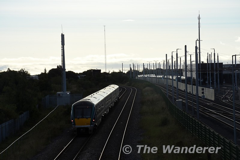 22021 departs from Broombridge with the 0807 Maynooth - Connolly. Sun 26.09.21