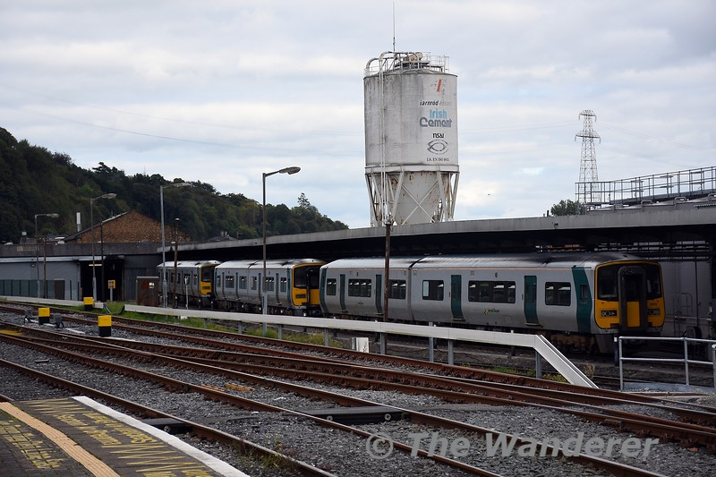 A trio of 2600 Class sets at Cork Depot, led by 2605 + 2616. Wed 22.09.21