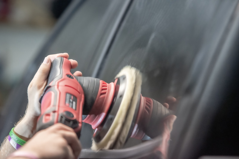 professional polishing and buffing detailing service on an automobile or a truck