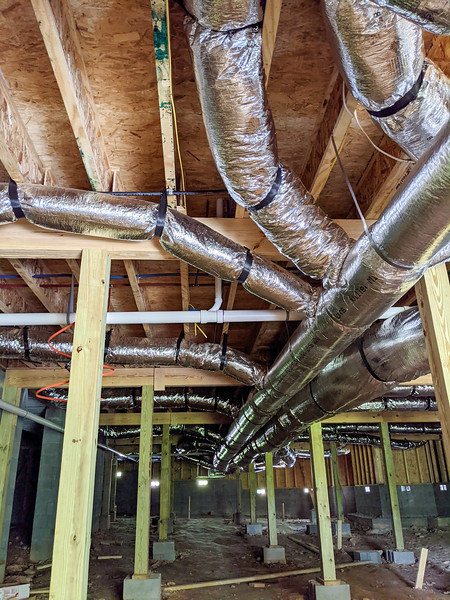 the art of hvac ductwork in a residential crawl space