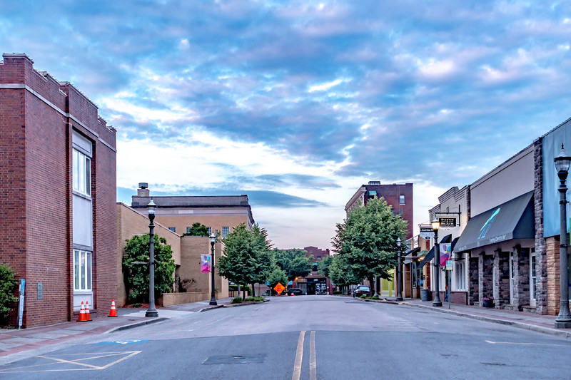 Rock hill south carolina downtown in the morning