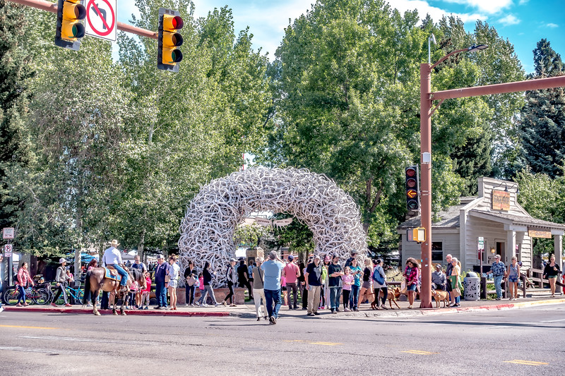 Antler Arch In Jackson Hole, Wyoming