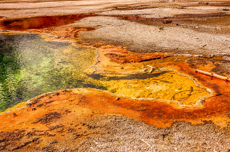 Geyser in Yellowstone National Park in Wyoming