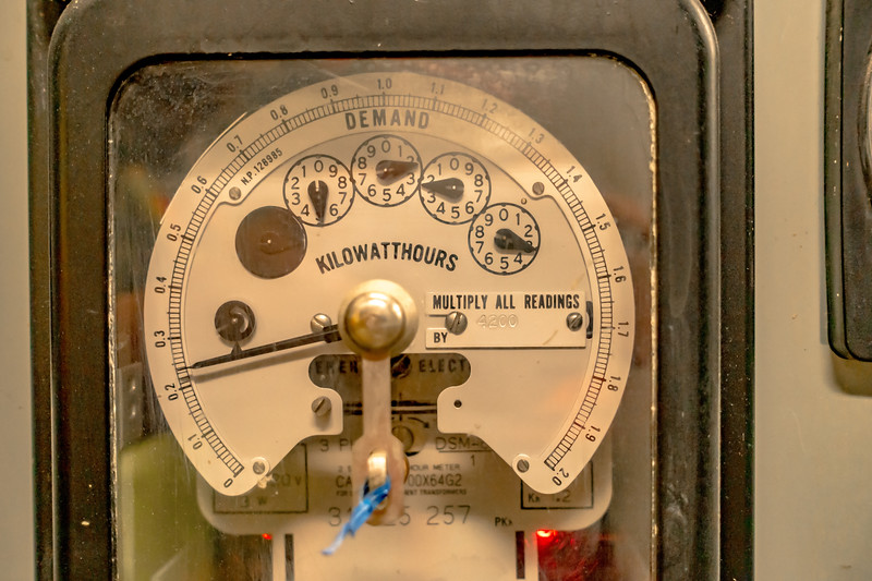 pressure gauge and knobs control at a plant