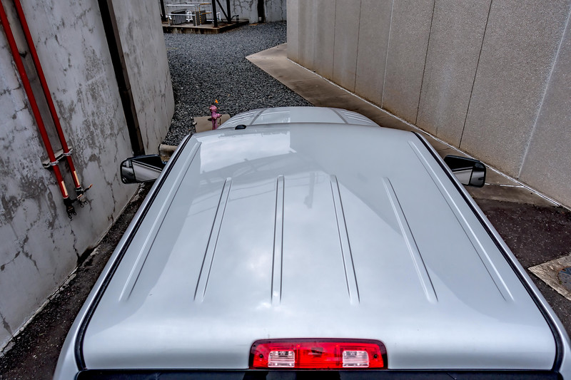 top roof view of a heavy duty pickup truck