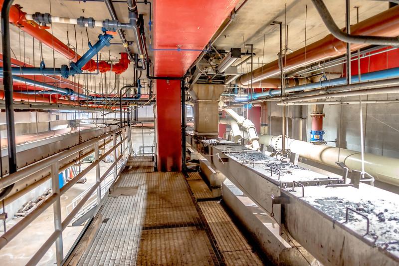 biosolids sludge distribution at wastewater plant