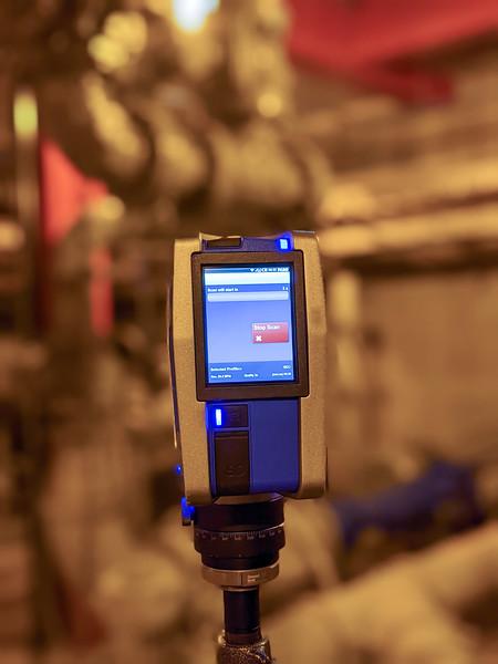 lidar laser scanning device at job site creating point cloud