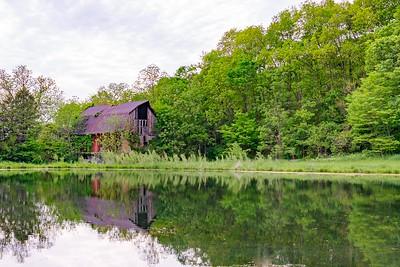 DA110,DP,Reflections of an Old Barn