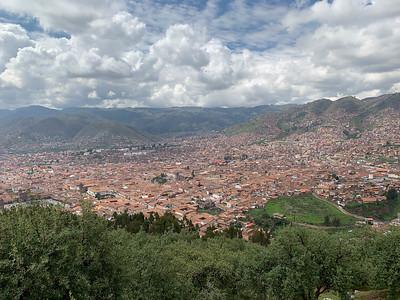 DA093,DT,Overlooking Cusco,  Peru