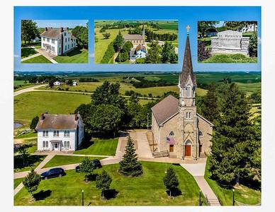 DA040,DP,Garry Owen St Patrick Church Rectory and Cemetery Collage-2