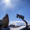 Juniper & the Rock in Snow