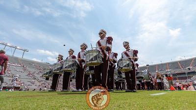 The Marching Virginians enter Lane Stadium before the pre-game festivities. (Mark Umansky/TheKeyPlay.com)