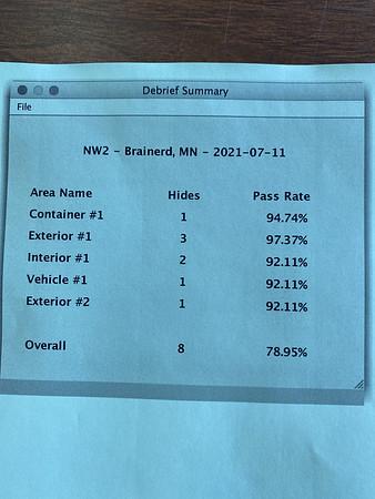 7 11 2021, Brainerd, MN, NW2 summary sheet