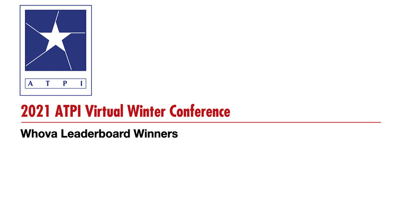 2021 ATPI Virtual Winter Conference Winners