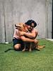 Chowder getting hug
