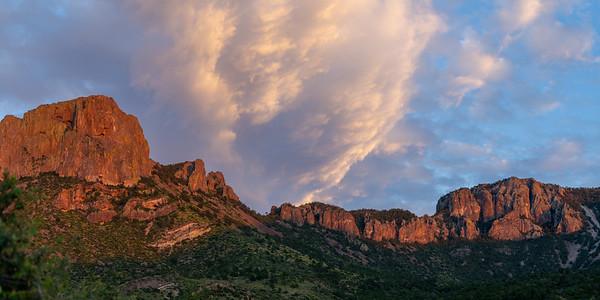 Sunset clouds at Chisos Basin, Big Bend National Park, Texas