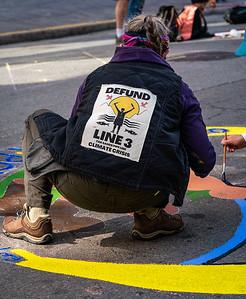 Protesting Wells Fargo Financing Fossil Fuel Industry