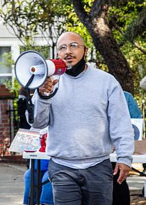 15  Ernesto Ayala of the Raza Unida Party addresses the crowd