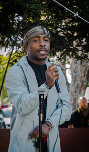 23  Stevante, brother of Stephon Clark (killed March 2018 in Sacramento) traveled to express his support and tell what happened to Stephon