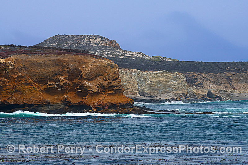 San Miguel Island sea cliffs. Southeast of Cardwell Point.