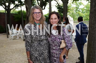Marilyn Baker, Heather Florance. Photo by Tony Powell. 2021 Embassy Social Secretaries & Cultural Attachés Reception. Meridian Intl Center. August 11, 2021