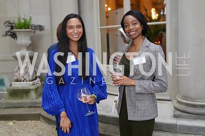 The White House's Manuelita Duran, Marian Keita. Photo by Tony Powell. 2021 Embassy Social Secretaries & Cultural Attachés Reception. Meridian Intl Center. August 11, 2021