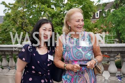 Kiyomi Buker, Diane Flamini. Photo by Tony Powell. 2021 Embassy Social Secretaries & Cultural Attachés Reception. Meridian Intl Center. August 11, 2021
