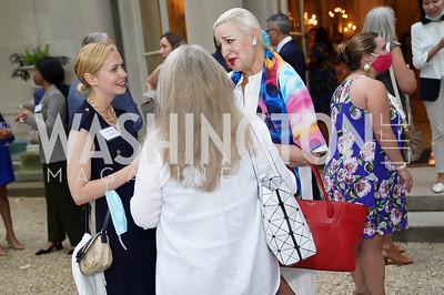 Shannon Ricchetti, Barbara Hawthorn, Christine Warnke. Photo by Tony Powell. 2021 Embassy Social Secretaries & Cultural Attachés Reception. Meridian Intl Center. August 11, 2021