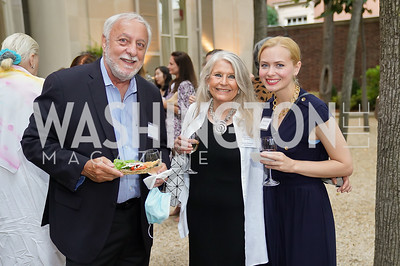 Bob Guberman, Barbara Hawthorn, Shannon Ricchetti. Photo by Tony Powell. 2021 Embassy Social Secretaries & Cultural Attachés Reception. Meridian Intl Center. August 11, 2021