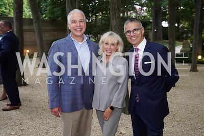 Mark Dumas, Debbie Shiff, Carlos Elizondo. Photo by Tony Powell. 2021 Embassy Social Secretaries & Cultural Attachés Reception. Meridian Intl Center. August 11, 2021