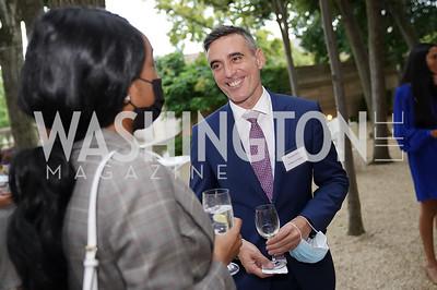 Sebastian Di Luca. Photo by Tony Powell. 2021 Embassy Social Secretaries & Cultural Attachés Reception. Meridian Intl Center. August 11, 2021